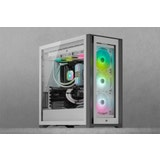 Corsair iCUE 5000X RGB Tempered Glass Mid-Tower Smart Case, White